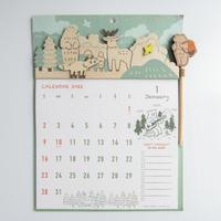 高旗将雄(アートプリントジャパン)|WOODHEADER CALENDAR 2022(壁かけ)