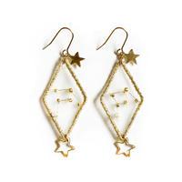 patterie|STAR DIAMOND PIERCE/EARRING - 天秤座【受注商品:11月中発送】