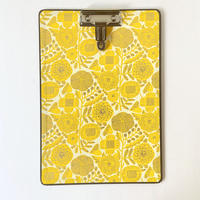 &PAPERS|CLIP BOARD kukinta yellow