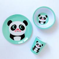 krone|OMM-designメラミン食器3点セット パンダ