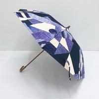 【6月号掲載分】YUMI YOSHIMOTO|KESHIKI 晴雨兼用折りたたみ傘 asa no yama purple