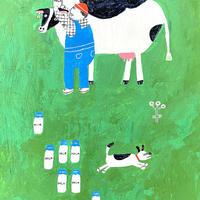 茂苅恵 牛乳原画2