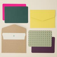 DRESSENSE 【紙博限定・DEADSTOCK】ベルギー製活版印刷カード&封筒set フォレスト