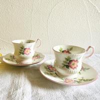 houti|イギリス QUEEN'S 花柄カップ&ソーサー2客セット