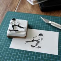 TAM'S WORKS|SKATEBOY【B】 手彫りスタンプ
