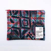LIFE AND BOOKS VINTAGE FABRIC POUCH (L)7-3