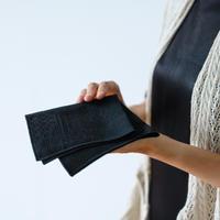 十布|福島の刺子織ハンカチ ブラック