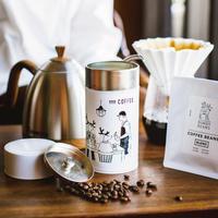 BUNDY BEANS コーヒー缶 月刊手紙舎限定ブレンド100g付