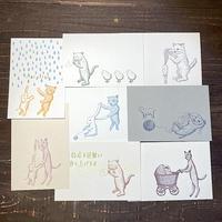 緑青社(つるぎ堂+knoten) つるぎ堂 猫のポストカードセット