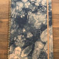 エモジ|A4ノート 藍染表紙 ピンクベース