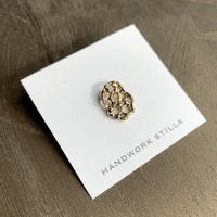 HANDWORK STILLA|蓮の実小ピンブローチ K14コーティング