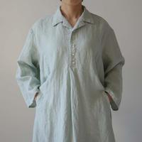 Canako Inoue| Plain Linen / オープンカラーシャツワンピース ラベンダー