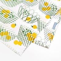 nocogou|ハンカチ・お弁当包み「バスケット」黄色