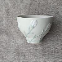 kinoki pottery|natural/Flowerミニカップ(green)