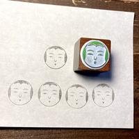 緑青社(つるぎ堂+knoten)|つるぎ堂 亜鉛凸版スタンプ (こけし顔)