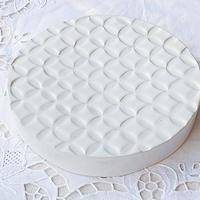 kinoki pottery 小紋フラット台皿(乳白)