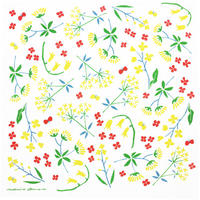 表現社 cozyca products|【21秋の新作】浅野みどり 和ざらしハンカチ sunny flower