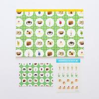 【9月号掲載分】36 Sublo (サブロ)|純喫茶 包装紙パッド・ポストカード・シールの3点セット