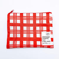 LIFE AND BOOKS|VINTAGE FABRIC POUCH (L)7-10