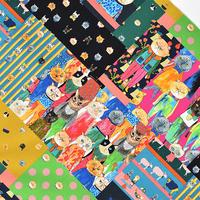 mannine|カット生地|cat patchwork (50cm×50cm)