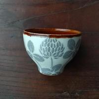 kinoki pottery|陶小町/お猪口(シロツメ草)