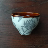 kinoki pottery 陶小町/お猪口(野花二枝)