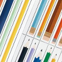 DRESSENSE|【紙博限定】イギリス製切手シール ロング鉛筆