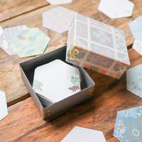 啓文社印刷|meribun 小さな六角形メモ100枚 詰め合わせセット