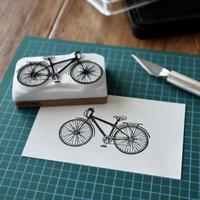 TAM'S WORKS 自転車 手彫りスタンプ