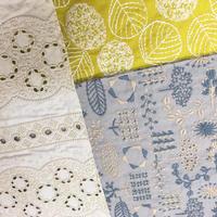 点と線模様製作所|手作りキット スヌード(刺繍生地) ブルーグレー