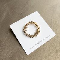 HANDWORK STILLA|ワイヤープランツつぶつぶリース小ピンブローチ K14コーティング