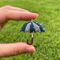 coL|傘ブローチ(緑)