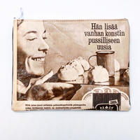 LIFE AND BOOKS OLD PAPER POUCH (L)22