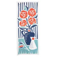 Day Starter|「花瓶のばら」てぬぐい_ブルー