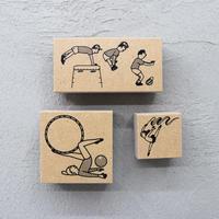36 Sublo (サブロ)|ゴム印3種類セット ほしのしほ 体操