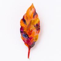 suzukimoeko leaf brooch 5