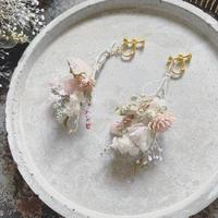 botanical works|botanical swag earring / pierce 片耳【pink】【受注商品:11月中発送】