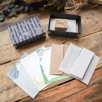 啓文社印刷|動物柄の包装紙から飛び出したスタンプセット(キツネ)
