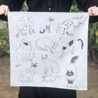 Loule(ロル)|網中いづるハンカチ「眠る猫」