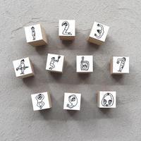 36 Sublo (サブロ)|ほしのしほ 人 数字 ハンコ セット