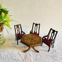 houti ミニチュア ドールハウス テーブルと椅子