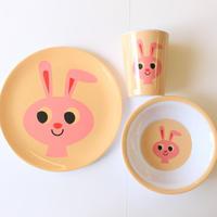 krone|OMM-designメラミン食器3点セット ウサギ