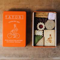 TAYORI BAKE|TAYORIオリジナルクッキー缶-朱-