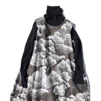 YUMI YOSHIMOTO| 雲柄ノースリーブドレス White