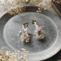 botanical works botanical swag earring / pierce 片耳【blue purple】【受注商品:11月中発送】