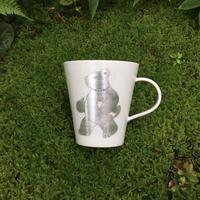竹村聡子|銀獣マグカップ(シャケクマ)