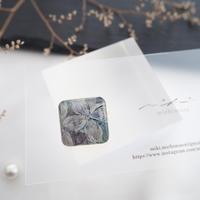 mikimichimasa 【 月刊手紙舎 限定作品】- 紫陽花 - brooch BS-12