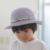 AVRIL|バンブーテープのつばつき帽子 kids ラベンダー