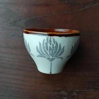 kinoki pottery|陶小町/お猪口(並ぶ野花)