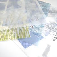 Replug|「グラシンペーパー」 10枚セット ぽち袋/里山 (長方形・五角形)